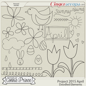 Project 2015 April - Doodled Elements
