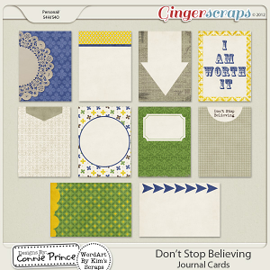 Don't Stop Believing - Journal Cards