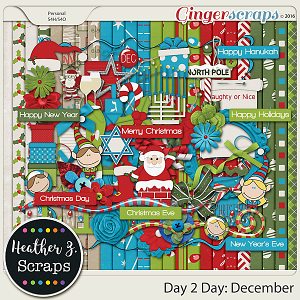 Day 2 Day: December KIT by Heather Z Scraps