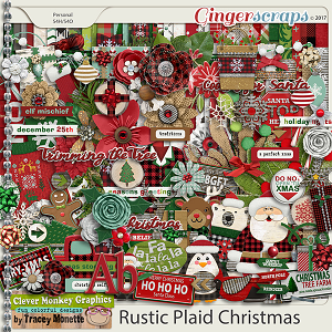 Rustic Plaid Christmas Kit by Clever Monkey Graphics