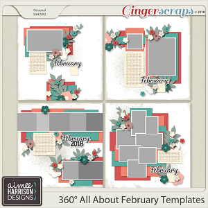 360°Life All About February Templates by Aimee Harrison