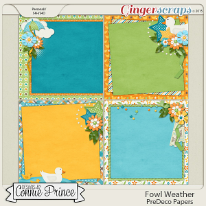 Fowl Weather - PreDeco Papers