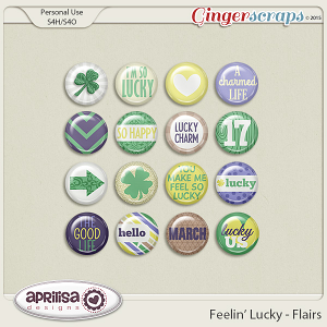 Feelin' Lucky - Flairs by Aprilisa Designs