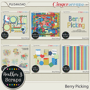 Berry Picking BUNDLE by Heather Z Scraps