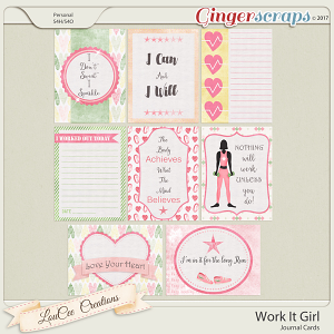 Work It Girl Journal Cards by LouCee Creations