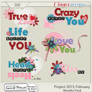 Project 2013: February - WordArt Pack