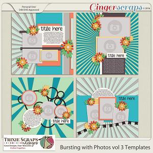 Bursting with Photos vol 3 Templates by Trixie Scraps Designs