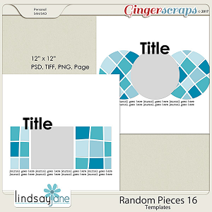 Random Pieces 16 Templates by Lindsay Jane