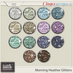 Morning Heather Glitters by Aimee Harrison