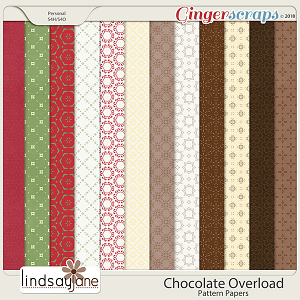 Chocolate Overload Pattern Papers by Lindsay Jane