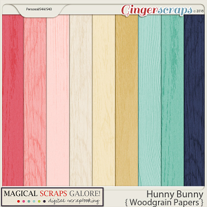 Hunny Bunny (woodgrain papers)