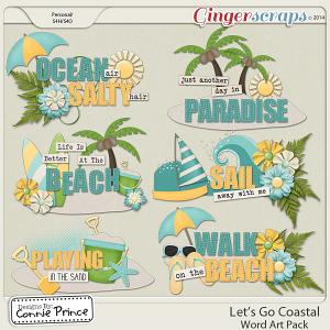 Let's Go Coastal - Word Art
