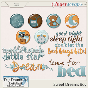 Sweet Dreams Boy {Wordart & Flairs} by Day Dreams 'n Designs