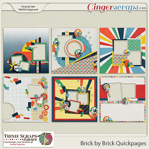 Brick by Brick Quickpages by Trixie Scraps Designs