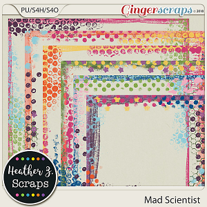 Mad Scientist PAINTED BORDERS by Heather Z Scraps