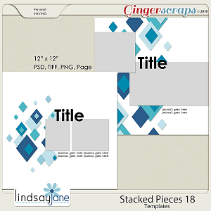 Stacked Pieces 18 Templates by Lindsay Jane