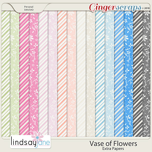 Vase of Flowers Extra Papers by Lindsay Jane