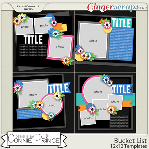 Bucket List - 12x12 Temps (CU Ok) by Connie Prince