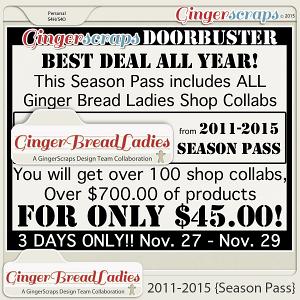 GingerBread Ladies 2011-2015 {Season Pass}