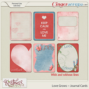 Love Grows Journal Cards