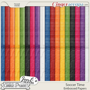 Soccer Time - Embossed Papers