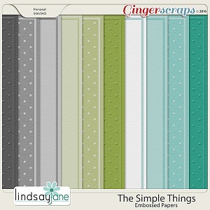 The Simple Things Embossed Papers by Lindsay Jane