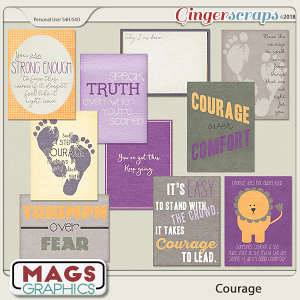 Courage JOURNAL CARDS by MagsGraphics