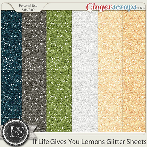 If Life Gives You Lemons Glitter Sheets