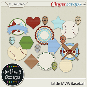 Little MVP: Baseball EXTRAS by Heather Z Scraps