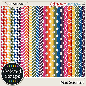 Mad Scientist EXTRA PAPERS by Heather Z Scraps