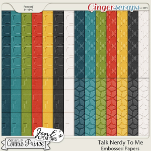 Talk Nerdy To Me - Embossed Papers