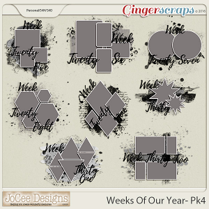 Weeks Of Our Year Masks - Pack 4