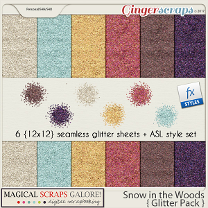 Snow in the Woods (glitter pack)
