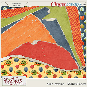 Alien Invasion Shabby Papers