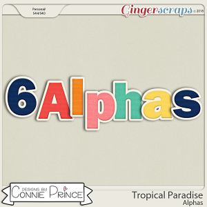 Tropical Paradise- Alpha Pack AddOn by Connie Prince
