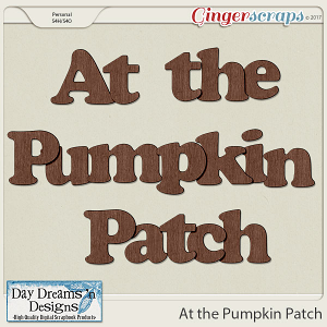 At the Pumpkin Patch {Extra Alpha} by Day Dreams 'n Designs