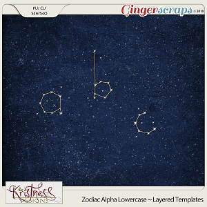 CU Alpha Constellations Layered Templates (Lowercase)