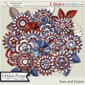 Stars and Stripes Layered Flowers