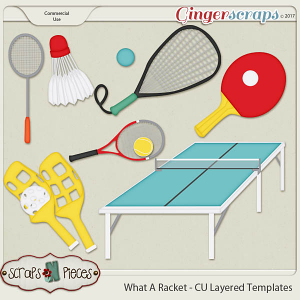 What A Racket CU Layered Templates - Scraps N Pieces