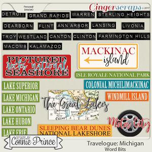 Travelogue Michigan - Word Bits