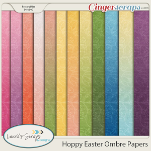 Hoppy Easter Ombre Papers