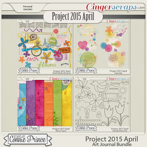 Project 2015 April - Art Journal Bundle