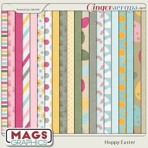 Hoppy Easter PAPER Pack by MagsGraphics