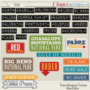 Travelogue Texas - Word Bits
