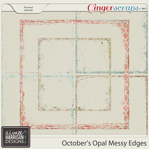 October's Opal Messy Edges by Aimee Harrison
