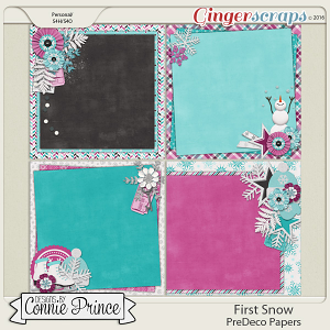 First Snow  - PreDeco Papers