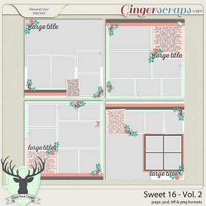 Sweet 16 Vol 2 Templates by Dear Friends Designs