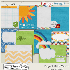 Project 2013: March - Journal Cards