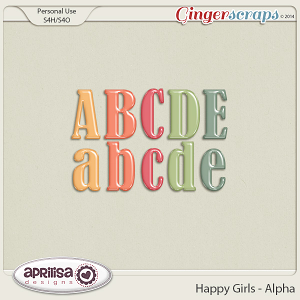 Happy Girls - Alpha by Aprilisa Designs