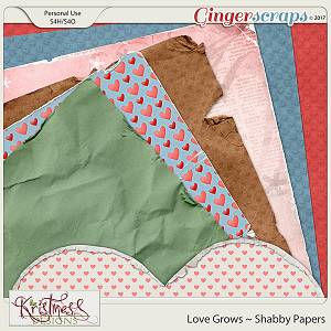 Love Grows Shabby Papers